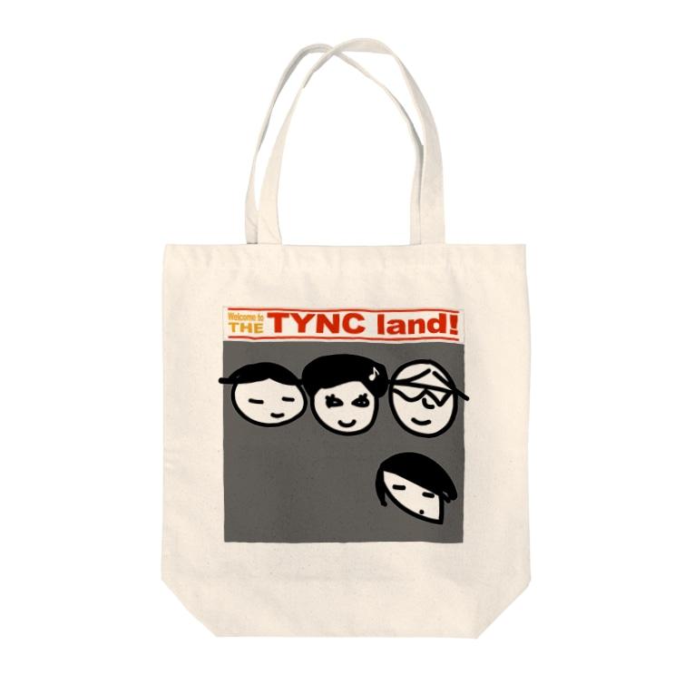 Kekyo & Yoritan RECORDSのTHE TYNC land Tote bags