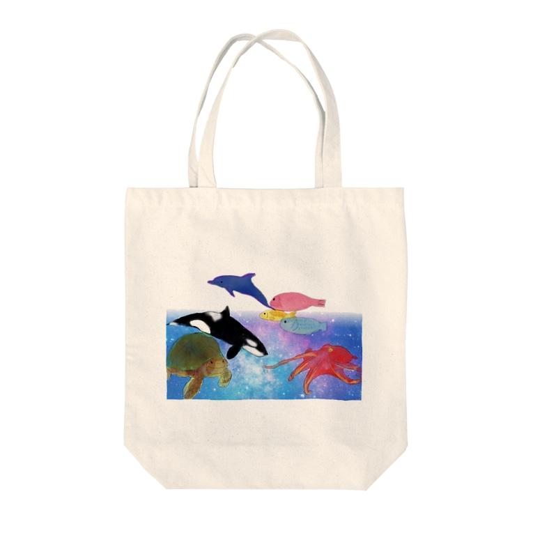 St.SKの水族館 Tote bags