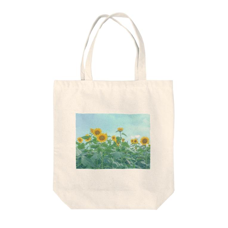misaのひまわり畑トート Tote bags