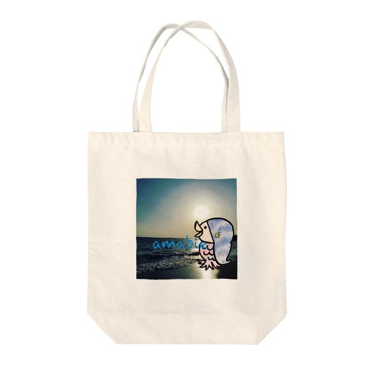 jelly_swimmyのᎢo the sea アマビエさま Tote bags