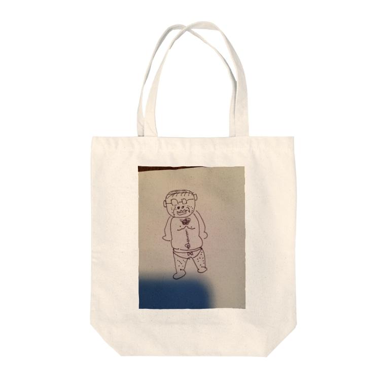 Greenstyleの変態おじさんシリーズ Tote bags