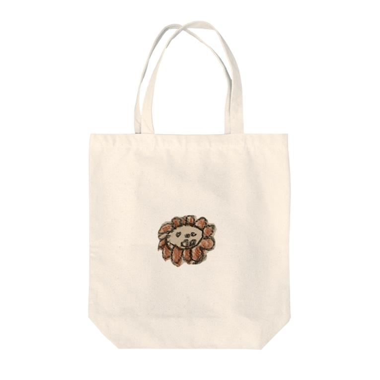 こじろうさんのライオンくん Tote bags