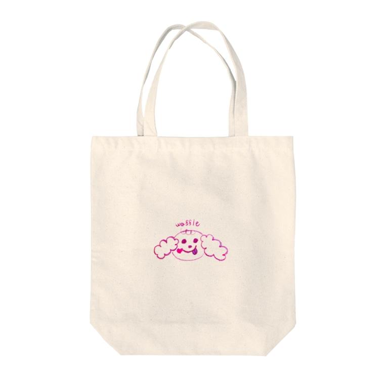 aki♡のwaffle。女の子。犬。ワッフル。 Tote bags