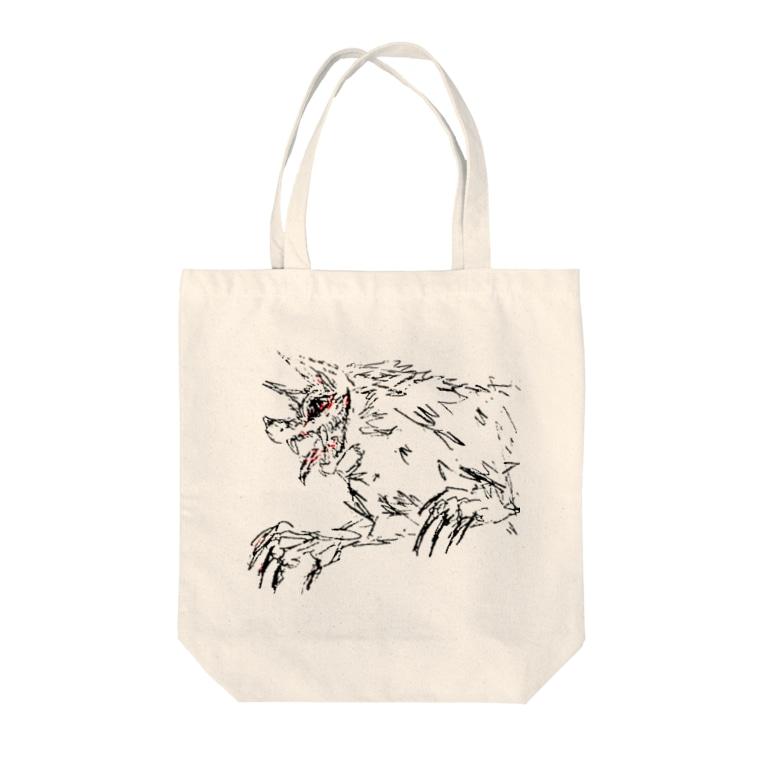 チグラアシャのBEAST Tote bags