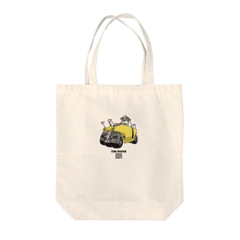 KURUKURU LOADER ltd.のタイヤローラー Tote bags