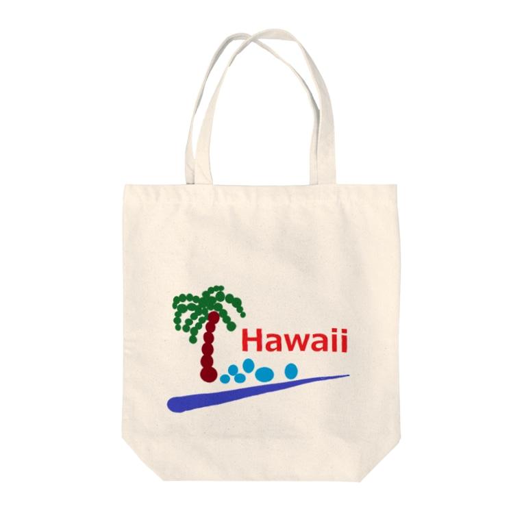 アメリカンベースのハワイ あわあわ Tote bags