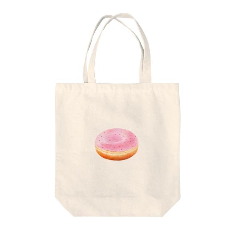 フジニカのいちごドーナツくん Tote bags