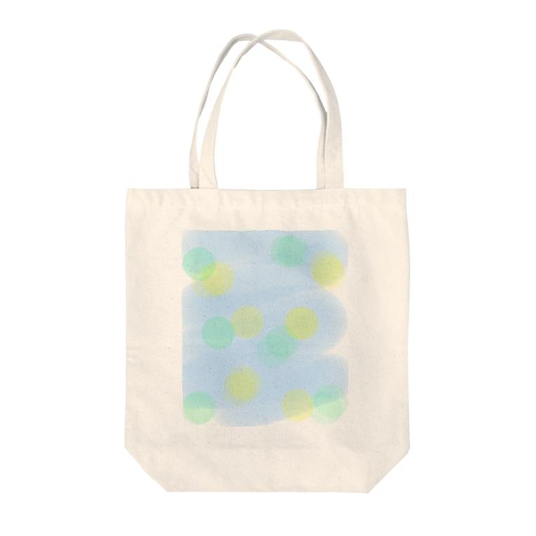 風野ひつじの浴衣の柄風水玉 Tote bags