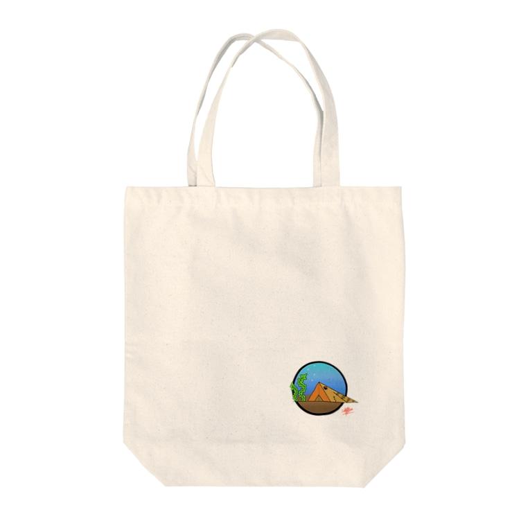 snaggedgorillaのテント × ガシラ Tote bags