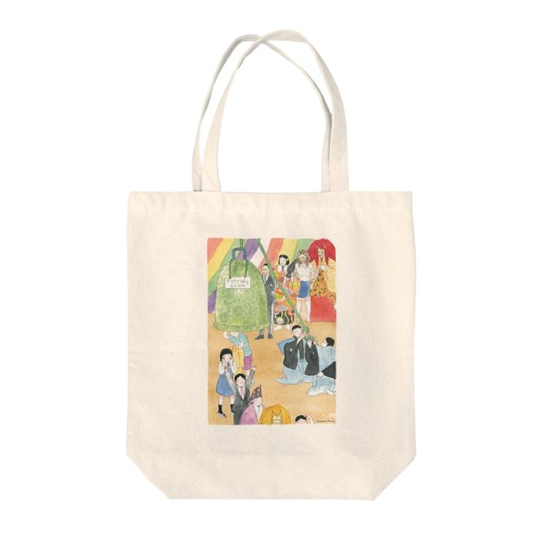 スペースオフィスの鐘でへんしん! 道成寺 Tote bags
