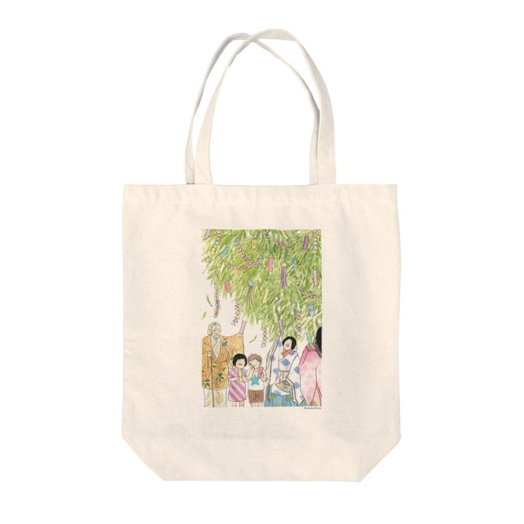 スペースオフィスの関寺小町のたなばたまつり Tote bags