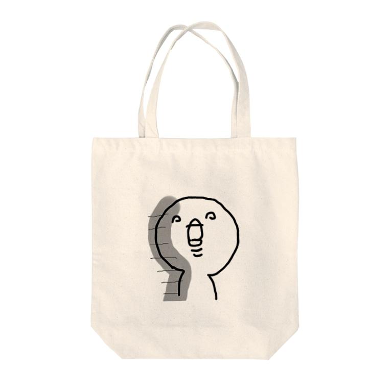 ノラまるのキチガイくん Tote bags