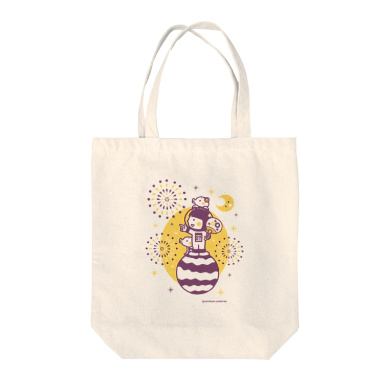 minimum universe shopのAstronauts - Fireworks Tote bags