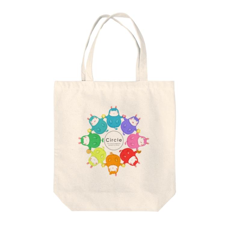 toshimaruのカバロバ circle Tote bags
