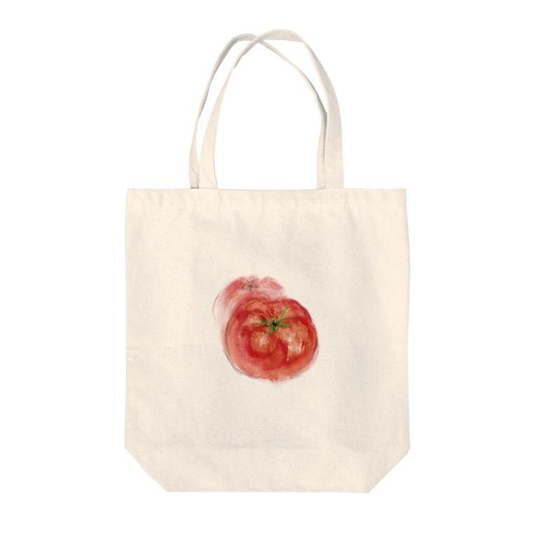 akane_art(茜音工房)のベジタブルバッグ(トマト) Tote bags