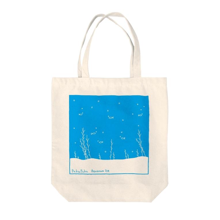 のびネコとおさかなのお店のぷくぷくアクアリウム Tote bags