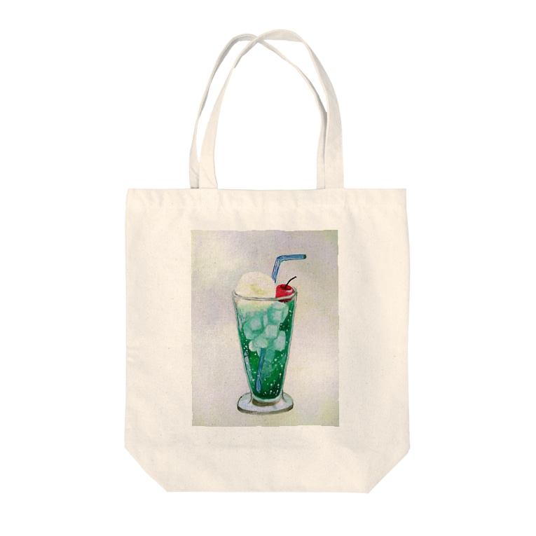 youmoreのメロンクリームソーダ Tote bags