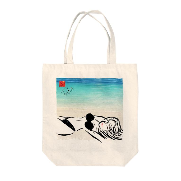 京都の魔雑貨堂のBlack Bikini Lady Tote bags