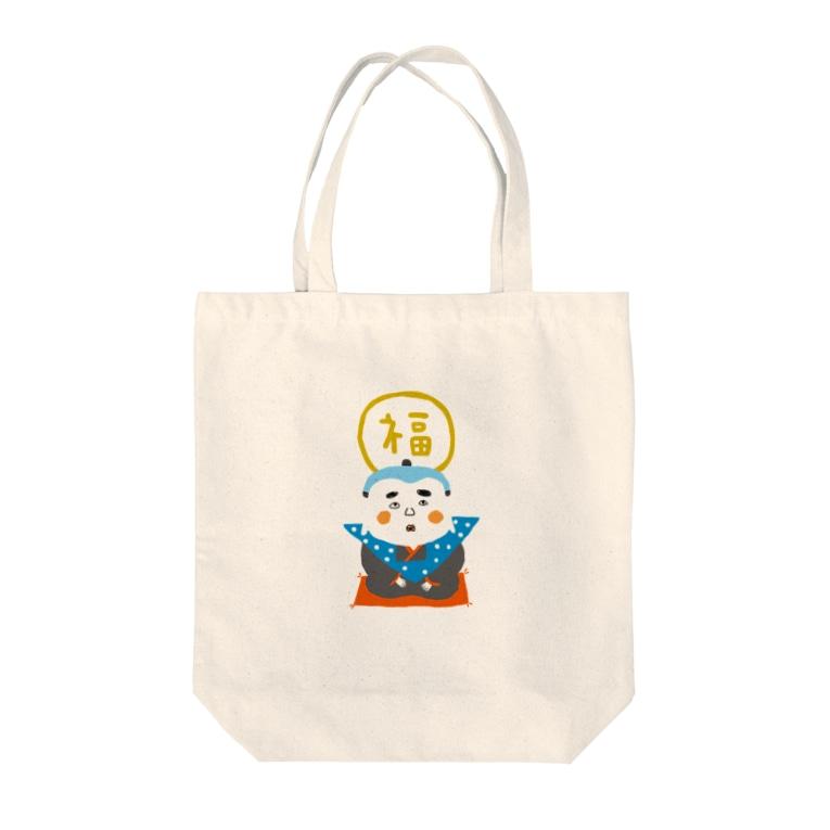 BONNOUMのBONNOUM福助柄 Tote bags