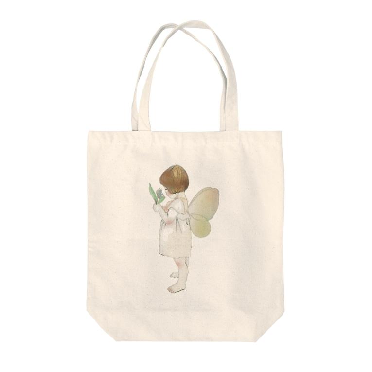 手作り雑貨屋ririの妖精 Tote bags
