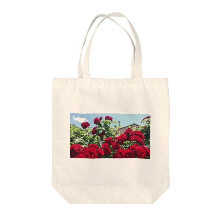 namaste99の薔薇の花 Tote bags
