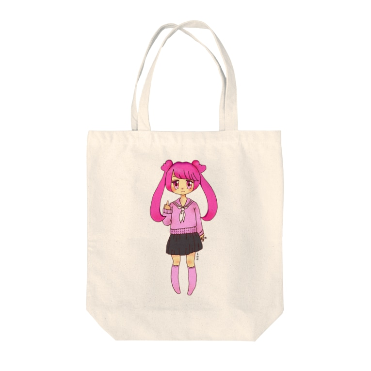 __vvrrのピンクJK Tote bags