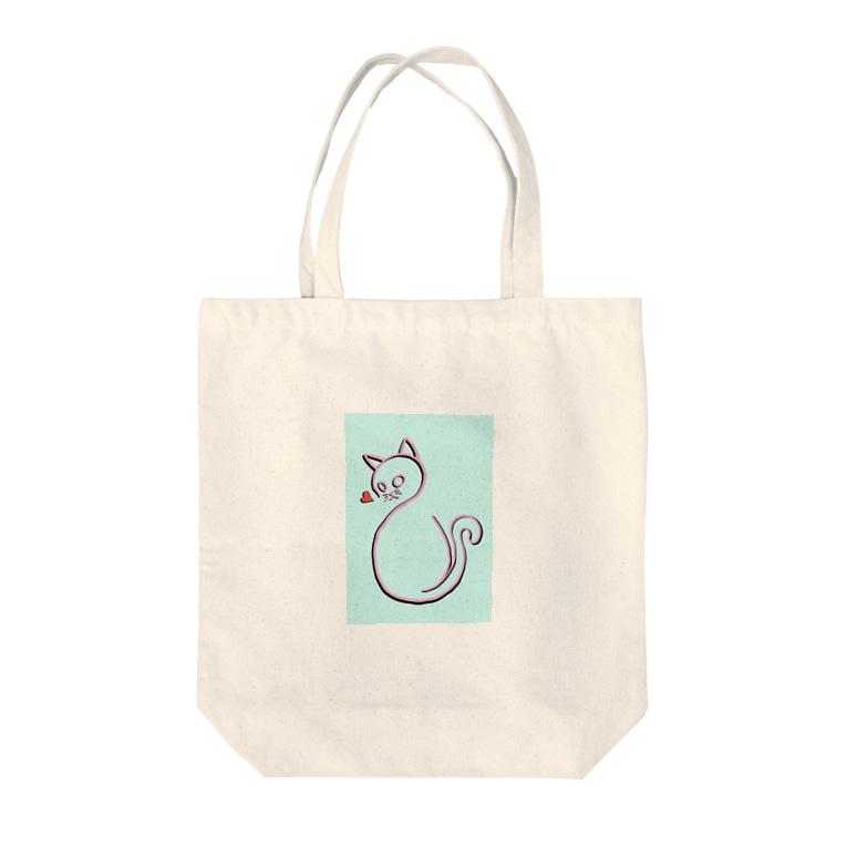 Shu-Designの愛に飢えた猫 Tote bags