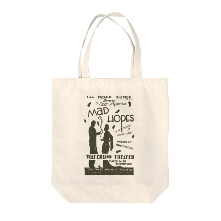 PD selectionのヴィンテージポスタートートバッグ(Mad Hopes) Tote bags