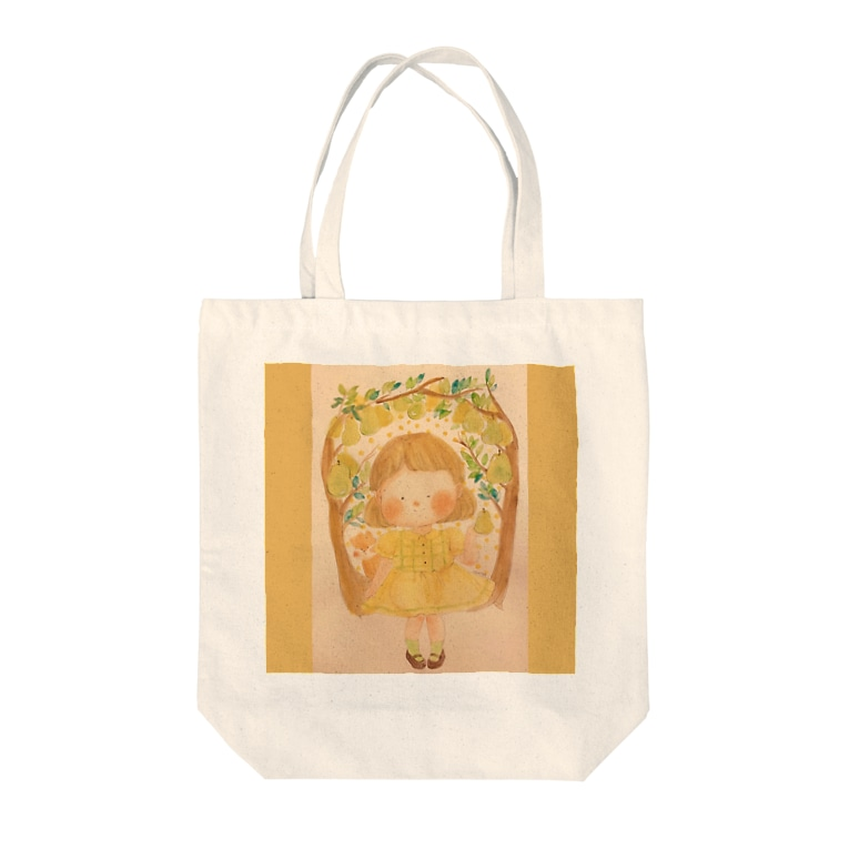 おゆみのお店の実りの秋 西洋梨🍐 Tote bags