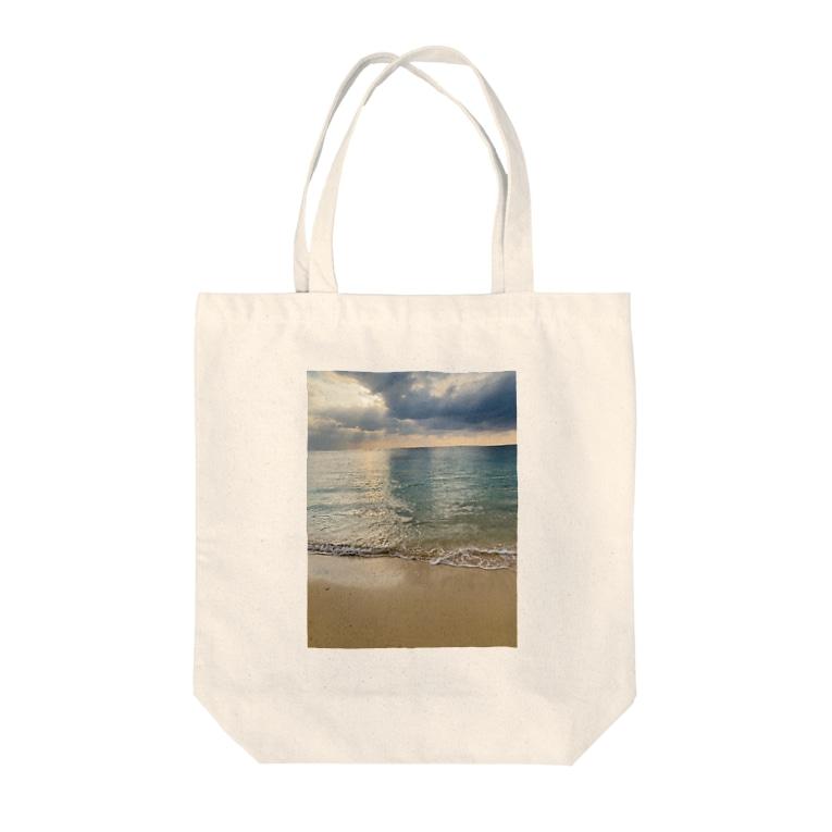 Ⓜ︎のbeach Tote bags