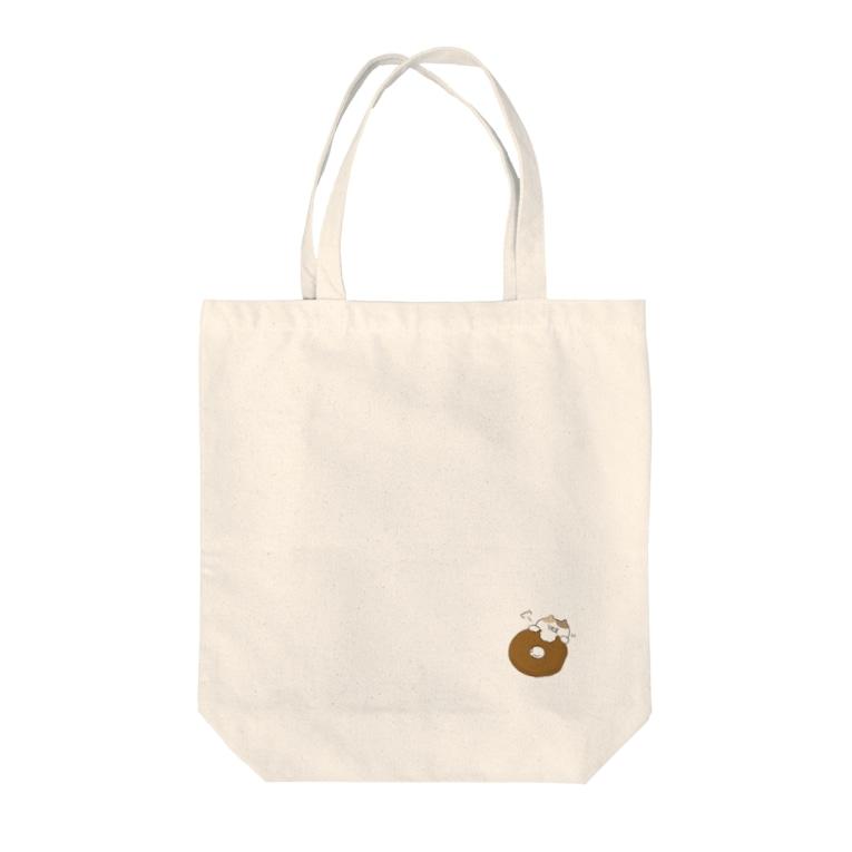 おからドーナツのアトリエの【色々にゃんことドーナツ】のトートバック Tote bags