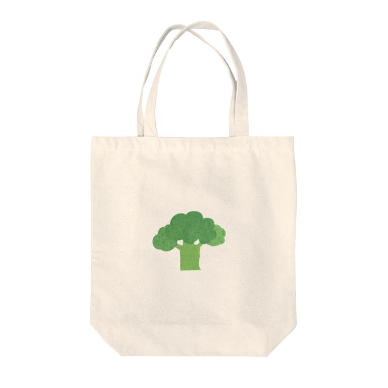 yorimichiのブロッコリー Tote bags