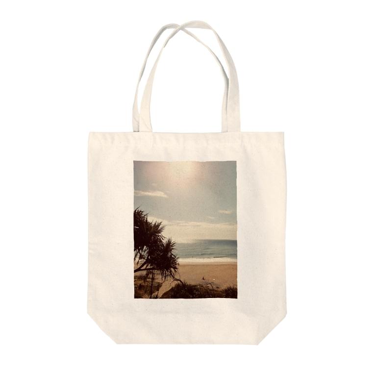 OmShantiのSunshine beach Tote bags