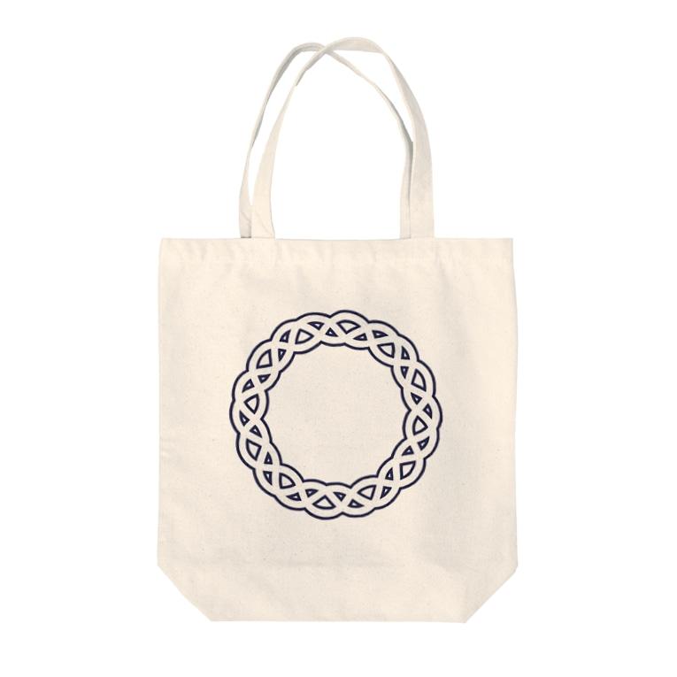 248-nijiya-のDominant Yumeno logo 背景透過Ver Tote bags
