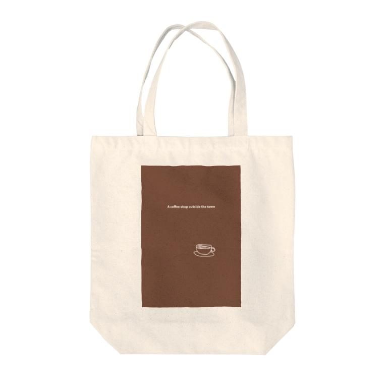 monochromeH2のA coffee shop outside the town Tote bags