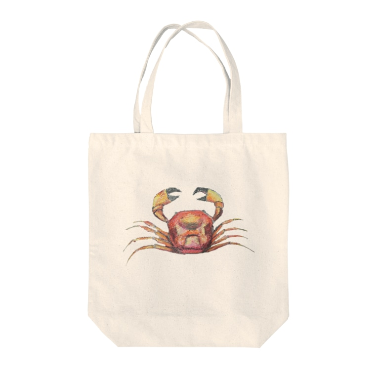 Clearskyのクレヨンかにちゃん Tote bags