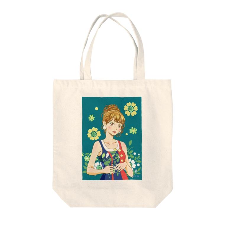 紅月 陽のレトロ Tote bags