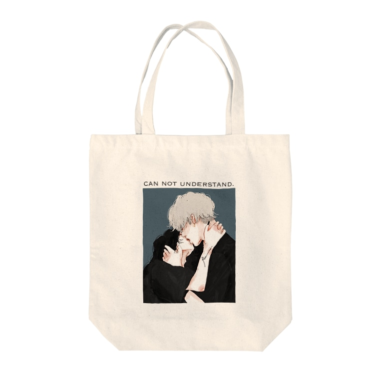 Ran.のcan not understand. Tote bags