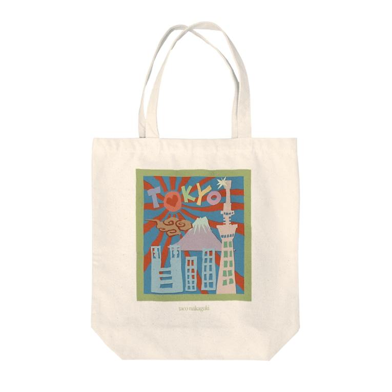 Taco NakagukiのThe city of Tokyo  Tote bags