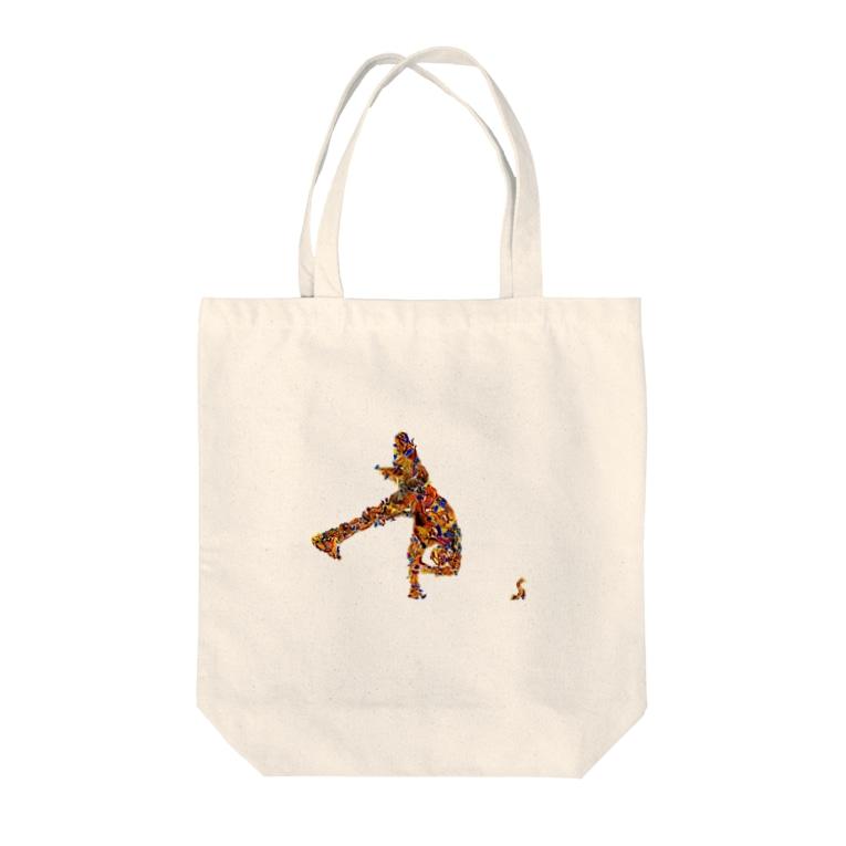 my-toshiのブレイクダンサー Tote bags