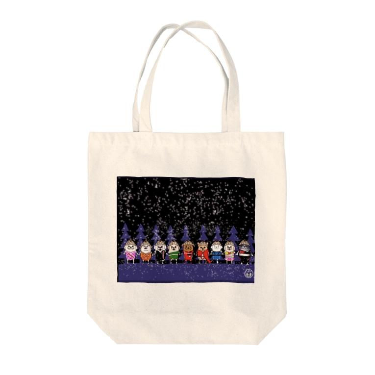 長与 千種 Chigusa Nagayoのマーベルドッグス笠地蔵 Tote bags