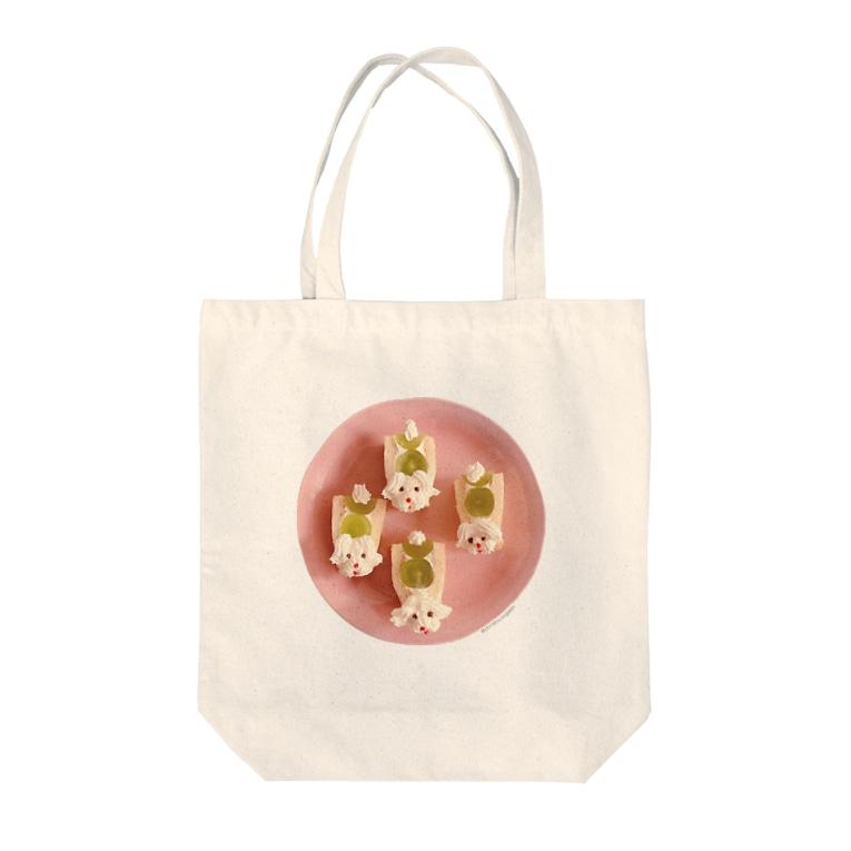 ℂ𝕙𝕚𝕟𝕒𝕥𝕤𝕦 ℍ𝕚𝕘𝕒𝕤𝕙𝕚 東ちなつのプードルのフルーツサンド Tote bags