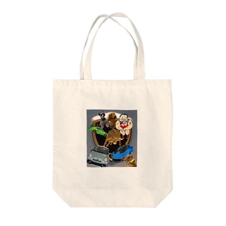 しげちゃん93のしげちゃんのびっくり箱 Tote bags