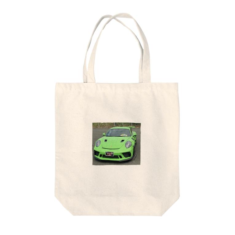 しげちゃん93のしげちゃんお気に入りの車です😍なかなか見れないレアポルシェです🤩身に着けてることで Tote bags