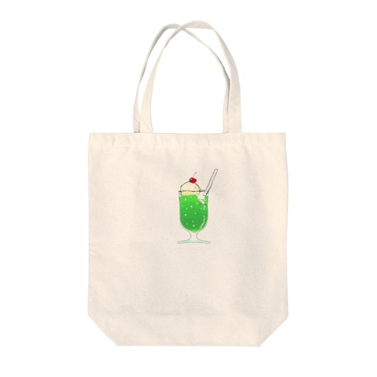 貯蔵庫のメロンソーダ Tote bags
