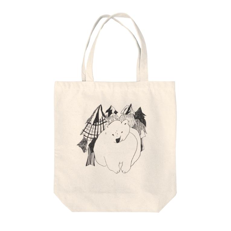 Kaede NAKAZAWAのくま(森の中) Tote Bag