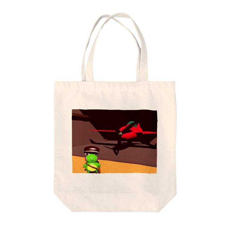 むちまるの愛機とともにbyカエルの郵便配達員リグーシ Tote bags