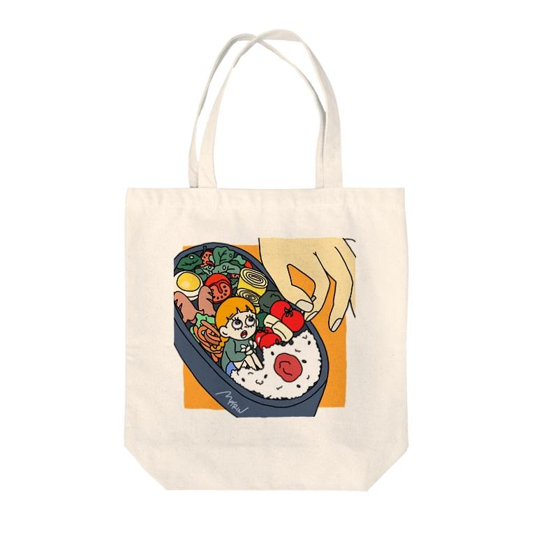 marinのハコイリムスメ(弁当箱) トートバッグ Tote bags