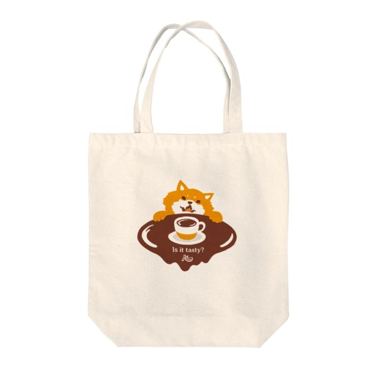 kocoonのコーヒーの味が気になる柴犬 Tote bags