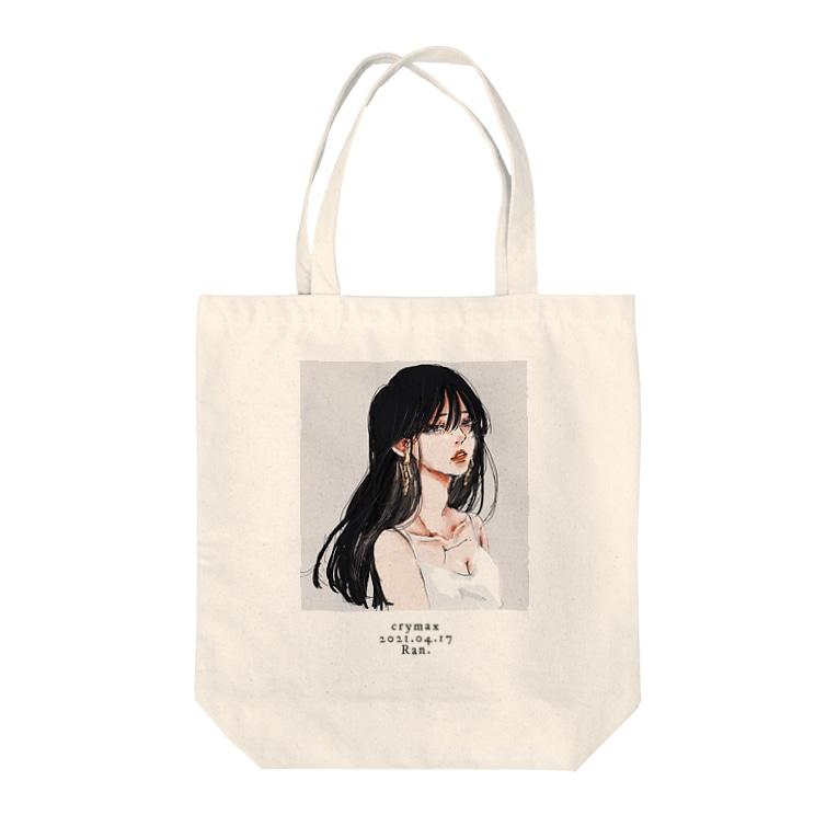 Ran.のcrymax Tote bags